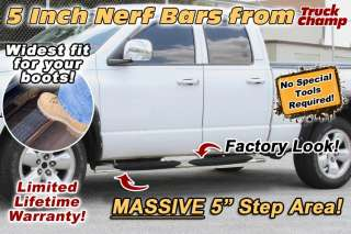 Bars Stainless 5 inch Oval Side Step 2009 2011 DODGE RAM 1500 QUAD CAB