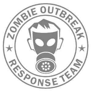 Zombie Outbreak Response Team IKON GAS MASK Design   5 SILVER   Vinyl