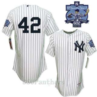 2011 Mariano Rivera Yankees Authentic Home Jersey w/ 602 Saves Patch