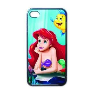 Ariel Little Mermaid Cool Apple iPhone 4 Black Hard Case Gift Free