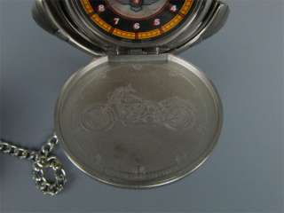 Franklin Mint Harley Fat Boy Pocket Watch+Case & Stand