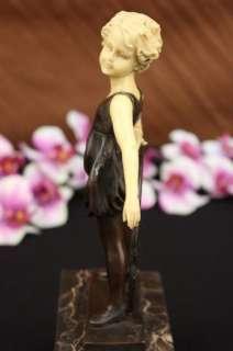 Art Deco Vienna Austrian Small Girl Bookend Book End Sculpture