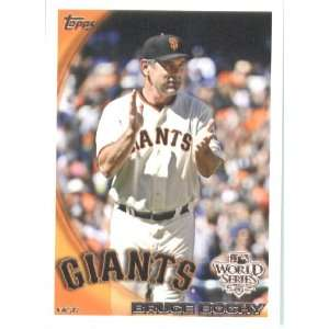 2010 Topps Bruce Bochy   MANAGER   San Francisco Giants
