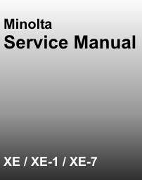 Minolta XE  XE 5   XE 7 Service ManuaL on CD