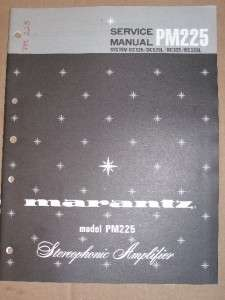 Marantz Service/Repair Manual~PM225 Amplifier~Original