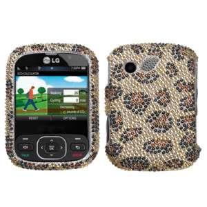 LG Imprint MN240 Leopard Cheetah BLING HARD CASE COVER