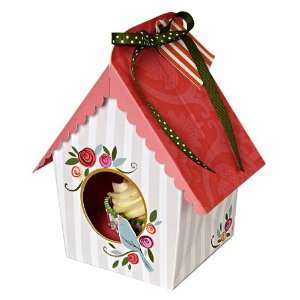 Meri Meri Bird House Cupcake Box, Small 4 Pack Kitchen