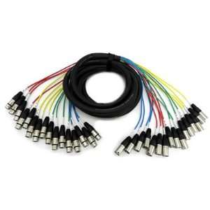 Audio   16 Channel XLR Snake Cable   15 Feet Long   Pro Audio Snake