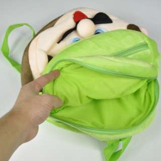 NEW Super Mario Brothers Plush Pouch Backpack School Bag