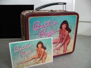 Bettie Page Lunchbox Tin Dark Horse Comics Bunny Yeager