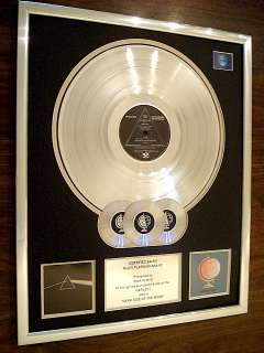 FLOYD DARK SIDE OF THE MOON MULTI PLATINUM DISC RECORD AWARD