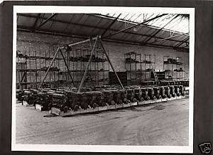 WWII Photograph Engine Rows Mercedes Benz? Germany