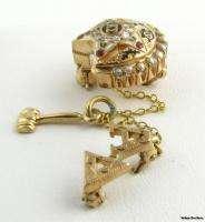 KAPPA SIGMA   Vintage Fraternity Pin Badge 10k Gold Rubies Diamonds
