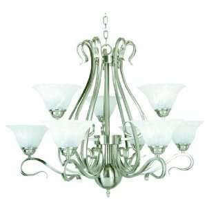Yosemite Home Decor 8739 3+6DB Dogwood 9 Light Chandelier
