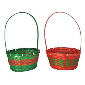 Club Pack of 36 Oval Red and Green Christmas Wicke