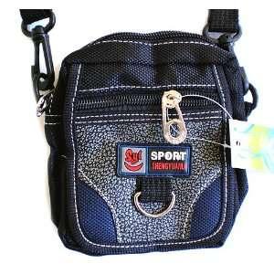 Small Canvas Black Pouch Waist Belt Shoulder Bag Spcial Discount Sale