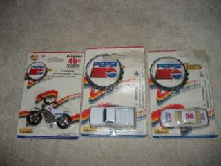 PEPSI COLA GOLDEN WHEEL DIE CAST CARS,MOTORCYCLE