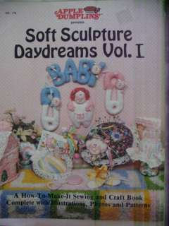 SOFT SCULPTURE DOLL PATTERNS Apple Dumplin Designs NEW