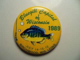 Capitol of Wisconsin 1989 Birchwood Wi Wisc Lions Pinback Button Pin