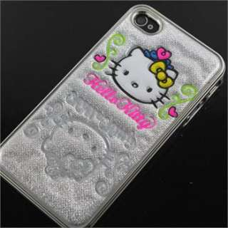 Cute Silver Bubble Hello Kitty Case Cover For IPhone 4 4G 4S+ Fred