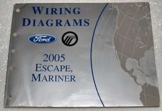 MERCURY MARINER FORD ESCAPE Electrical Wiring Diagrams Shop Manual