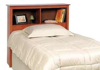 Twin Size Bed Storage Shelf Headboard   Cherry NEW
