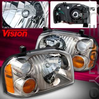 NISSAN FRONTIER SC SE CREW EXTENDED CAB PICKUP CHROME HEAD LIGHTS PAIR