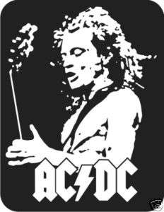 Angus Young ACDC Decal Sticker Car Truck Window Laptop