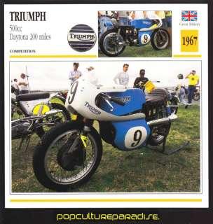 1967 TRIUMPH 500cc Daytona 200 Miles MOTORCYCLE CARD