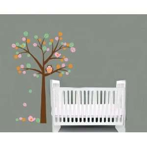Kids Tree Vinyl Wall Decal with Birds Owl Children Nursery