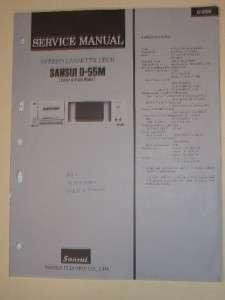 Sansui Service Manual~D 55M Cassee Deck~Original |