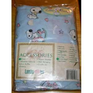 Baby Snoopy Crib Sheet   Little Baby Snoopy on Rocking Horse Baby