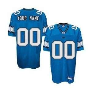 Reebok NFL Equipment Detroit Lions Blue Authentic Customized Jersey