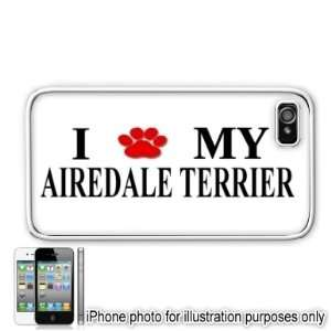 Airedale Terrier Paw Love Dog Apple iPhone 4 4S Case Cover