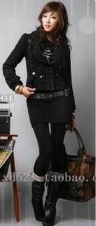 Lady Black Tights Pants Double Bamboo Fiber Leggings Women Winter Warm