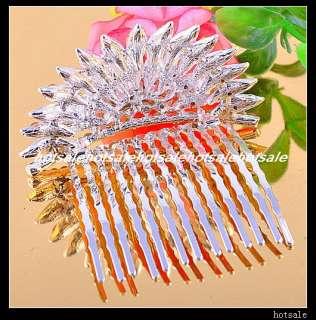 wholesale 36pcs rhinestone comb wedding Tiara Crown