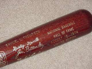 1974 Hall of Fame Brown Bat Mickey Mantle Whitey Ford