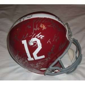 BCS Helmet W/PROOF Pictures of Players Signing, Alabama Crimson Tide