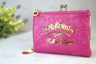 Hello Kitty Wallet w/ Kisslock + Zipped Coins Bag #884