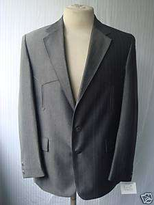 40R 32W NWT Mens Western Wear Suit Dark Gray Warp Knit
