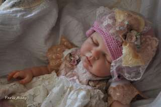 Short Bread Cookie~French Lace Dress & Hat 4 Reborn Baby Doll