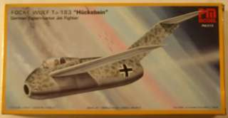 Germany Focke Wulf Ta 183 Jet 1/72 Airplane Model Kit