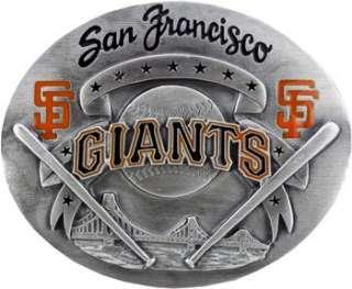 Official San Francisco GIANTS Belt Buckle Baseball