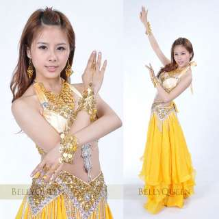 set Necklace/Bracelets/Earrings Belly Dance Costume Accessories Gold
