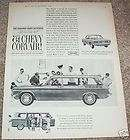 1960 Chevrolet Corvair 1961 Chevy Station Wagon car AD