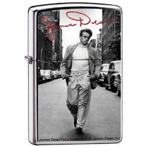 Zippo Custom Lighter   James Dean Actor Walking with Cigarette   RARE