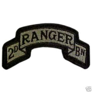 US Army ACU 2nd Ranger Battalion Scroll