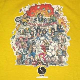 1979 RAMONES ROCK N ROLL HIGH SCHOOL VTG PROMO T SHIRT