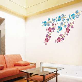 Flower Adhesive WALL JEWELLY STICKER Removable Decal