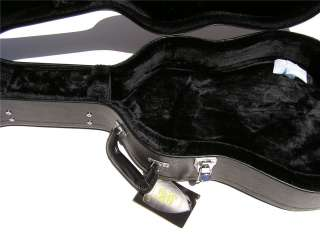 BLACK TOLEX HARDSHELL ACOUSTIC BASS GUITAR HARD CASE
